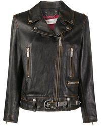 Golden Goose Deluxe Brand Приталенная Байкерская Куртка - Черный