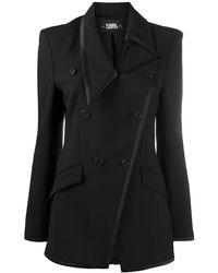 Karl Lagerfeld Блейзер Studio Kl Асимметричного Кроя - Черный