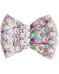 Missoni Embroidered Hair Wrap - White