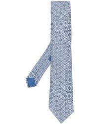 Hermès Cravatta a fantasia anni 2000 - Blu