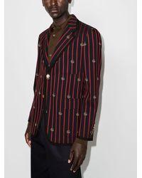 Gucci Полосатый Пиджак С Логотипом GG - Многоцветный