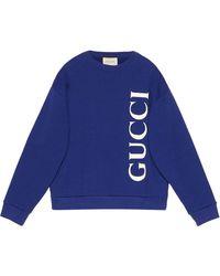 Gucci ロゴ スウェットシャツ - ブルー