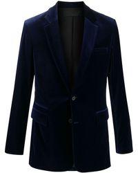 Haider Ackermann ベルベット シングルジャケット - ブルー