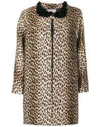Antonio Marras Leopard Printed Coat - Brown
