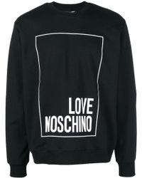 Love Moschino - Logo Square Jersey Sweater - Lyst