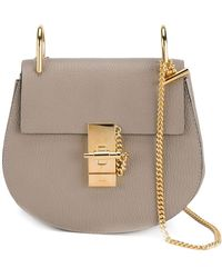 Chloé Mini Drew Shoulder Bag - Grijs