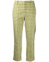 Silvia Tcherassi Garmet Cropped Trousers - Green
