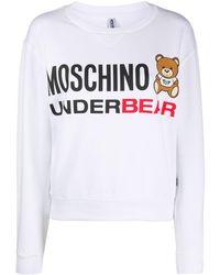 Moschino ロゴ パジャマトップ - ホワイト