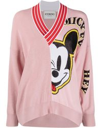 Iceberg Mickey-print Jumper - Pink