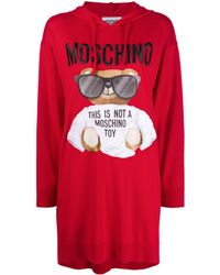 Moschino - Robe-sweat Teddy - Lyst