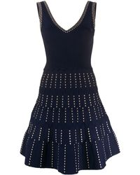 Sandro Jasm Fit - And - Flare Knit Dress - Blue