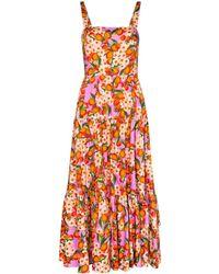 Borgo De Nor Daniella fruit-print midi dress - Mehrfarbig