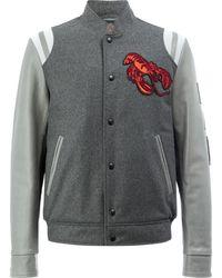Lanvin ロブスター刺繍 ボンバージャケット - グレー