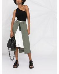 Sacai - Deconstructed Midi Skirt - Lyst
