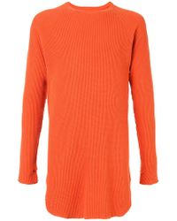 Unused - Long-sleeve Textured T-shirt - Lyst