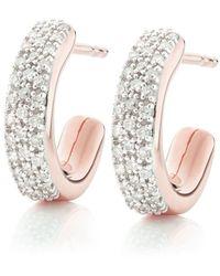 Monica Vinader Rp Fiji Diamond Mini Hoop Earrings - Металлик