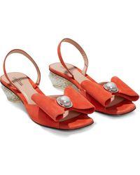 Marc Jacobs The Paris Sandals - Orange