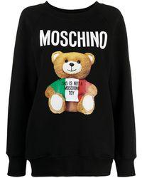 Moschino - Толстовка Teddy Bear С Круглым Вырезом - Lyst