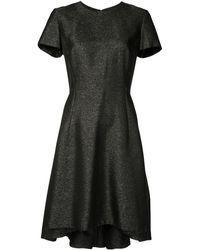 Dior Расклешенное Платье Pre-owned С Эффектом Металлик - Черный