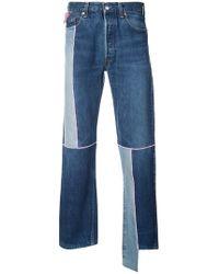 Utility slim-leg patchwork jeans Longjourney bmH5ugHFe