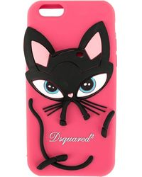 DSquared² Cat Iphone 6/6s/7/8 Cover - Pink