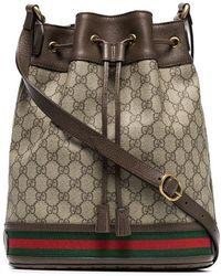 Gucci - GG Logo Bucket Bag - Lyst