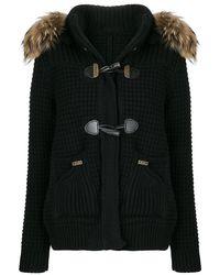 Bark - Fur Trimmed Hooded Cardigan - Lyst
