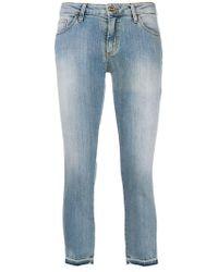 Blugirl Blumarine - Cropped Faded Jeans - Lyst