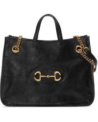 Gucci - Borsa shopping Horsebit 1955 media - Lyst