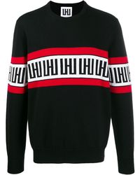 Les Hommes ロゴ パネル セーター - ブラック