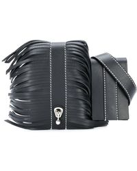 Ermanno Scervino Fringed belt bag - Negro