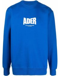 ADER error ロゴ プルオーバー - ブルー