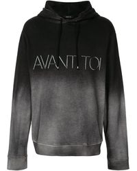 Avant Toi ロゴ パーカー - ブラック