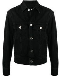 Lanvin ロゴ デニムジャケット - ブラック
