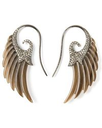 Noor Fares - Diamond Wing Earrings - Lyst