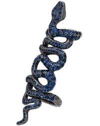 Loree Rodkin Blue Bondage Snake Sapphire Embelllished Ring