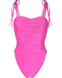 Amen Badeanzug mit Schnürung - Pink