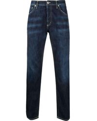 Dondup Schmale Distressed-Jeans - Blau