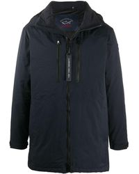 Paul & Shark Down-filled Hooded Parka - Blue