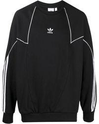 adidas Толстовка Big Trefoil Abstract - Черный