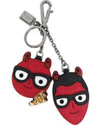 Dolce & Gabbana - Devil Face Keyring - Lyst