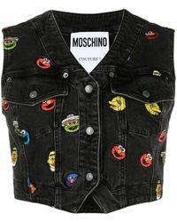 Moschino Sesame Street© Cropped Waistcoat - Black