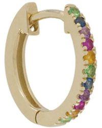 Otiumberg 9kt Yellow Gold Rainbow huggie Hoop - Metallic
