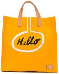 Paul Smith Hello Cotton Tote Bag - Yellow