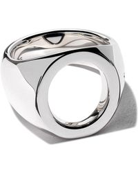 Tom Wood Ring Met Open Opzetstuk - Metallic