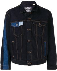 Gosha Rubchinskiy Gosha Rubchinsky X Levi's Contrasting Panels Denim Jacket - Blue