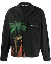 Palm Angels プリント シャツ - ブラック