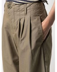 YMC High-waisted Pleated Pants - Green