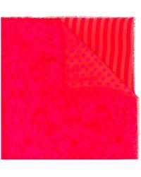 Twin Set Heart-pattern Knit Scarf - マルチカラー