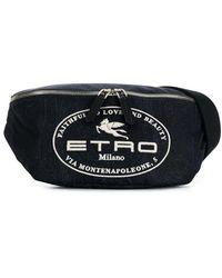 Etro ペイズリー ベルトバッグ - ブルー